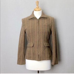 LAUREN RALPH LAUREN Wool Tweed Riding Style Jacket